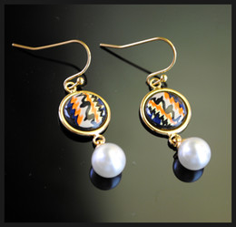 Rose Series drop earrings 18K gold-plated enamel earring for woman Top pearl earrings for a gift