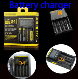 Wholesale Universal Battery chargers Compatible intelligent digital LCD chargers Adapter Four Slots Chargers for Rechargeable