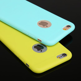 Ultra-thin Candy colors Soft TPU Silicon Phone Case For Iphone 6 6s plus 6plus High Quality Fashion Design
