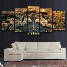Wholesale 5 Set Modern Landscape Roman Forum Printed Oil Painting On Canvas Wall Art Hanging Pictures Fashion Home Decal