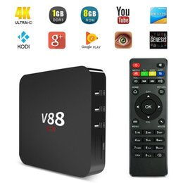 Wholesale V88 Android TV BOX Rockchip RK3229 Kodi G G EMMC H Multimedia Player XBMC
