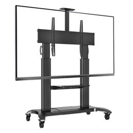 NB CF100 Luxury Heavy Duty Aluminum 60-100inch LED LCD TV Mobile Cart Free Lifting And Extension Base