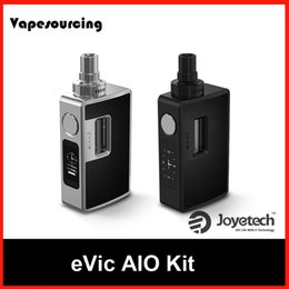 Wholesale Authentic Joyetech Evic Aio Full Ee cigarette Kit TC Box Mod with ml ECIG vaporizer BF SS316 ohm DL coils