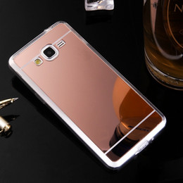 Mirror Case Electroplating Chrome Soft TPU Case Cover FOR Samsung NOTE 3 4 5 A310 A510 A710 J310 J510 J710 J3 J5 J7 2017 J2 J5 J7 PRIME 100P