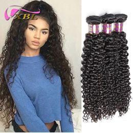 2017 22 pouces extensions de cheveux longueur Brazilian Curly Human Hair Extension Prix de gros Longueur 10 à 22 pouces Trois Bundles XBL Livraison gratuite par DHL 22 pouces extensions de cheveux longueur promotion