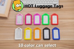 2016 New plastic Luggage Tags Travel Paper Suitcase Tag Carrying case Tag Packet Label Wrap Easily recognizable Bag Parts With lanyard A0131