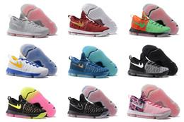 La nouvelle chute d'arrivée a vendu la vente en gros de Kevin Durant KD 9 bas des bas de sport de sports d'hommes de baskets de basket-ball des hommes de baskets d'hommes la taille 40-46 à partir de kd chaussures hommes taille 12 fabricateur
