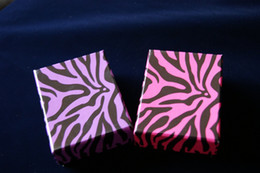 [Simple Seven]Pink or Purple Jewelry Box Zebra-stripe Lovers Ring Case 8.5*6.5*3.5cm Earring Studs Display Fashion Bracelet Box