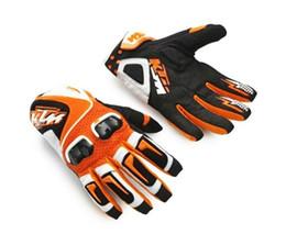 Free Shipping KTM Genuine carbon fiber Motocross Gloves  Racing gloves   riding gloves orange KTM Gloves