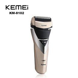 Flotteurs électroniques en Ligne-KEMEI KE-8102 Rechargeable rasoir électrique rasoir électrique rasoir électrique homme rasoir 3D Floating 0604065