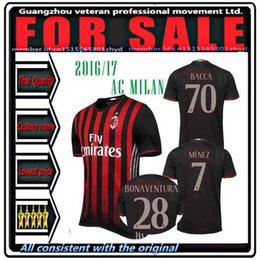 Wholesale New AC Milan soccer jersey BACCA home red BERTOLACCI BONAVENTURA HONDA top quality AC Milan football shirts soccer jersey