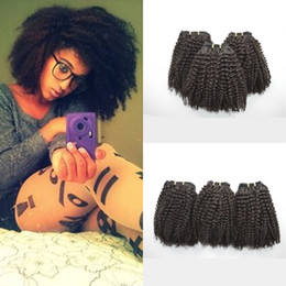 Afro Kinky Curly Human Hair Weave Bundles 3pcs lot Brazilian kinky curly 100% Human Hair LaurieJ Hair