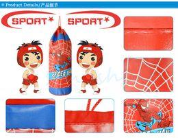 Boîte d'araignée jouet à vendre-Livraison gratuite sacs à sable de boxe jouets en cuir PU style classique d'araignée anniversaire et cadeaux de Noël (sac vide) -45cm / rouge et bleu