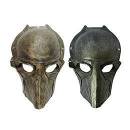Wholesale Halloween Mask Masquerade for Adult Fashion Alien VS Predator Warrior Resin Movie Mask Sliver Gold Resin Masquerade Cosplay Party Costume