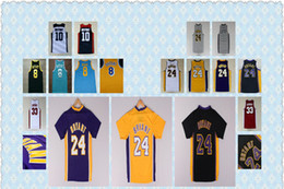 Wholesale Best Men s High School Lower Merion Kobe Bryant Running Jerseys Red White Black Yellow Purple Kobe Bryant LA Shirts Good