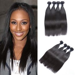 Unprocessed Human Hair Extensions straight Best Quality Virgin Indian Hair 4 pcs a lot Can Be Dye G-EASY