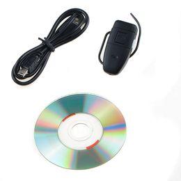 4GB Bulid-in de la cámara del espía de la memoria ocultada videocámara ocultada DV de la videocámara de la seguridad DVR del receptor de cabeza del auricular de DV libera el envío desde bluetooth auriculares cámara espía proveedores