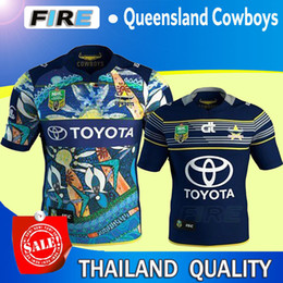 Wholesale NRL queensland cowboys Rugby Jerseys Best Quality Top maillot de futbal Men s NRL queensland cowboys Rugby Shirts