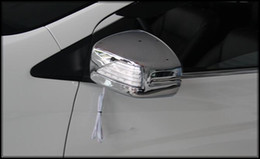 Free shipping! High quality ABS chrome 2pcs door mirror cover with led signal light For Honda City 2015