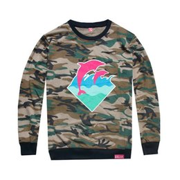 2018 new arrival hiphop men dolphin camouflage shirt wholesale price tshirt men love long sleeve t shirt men top quality pink dolphin