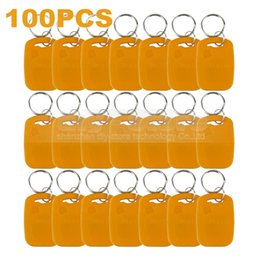 100pcs lot Rfid 125Khz Proximity Rfid ID Card Keychain Key Tags Keyfobs for Door Key Yellow