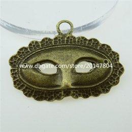 Wholesale 12839 Antique Vintage Bronze Tone Alloy Fox Mask Pendant Charm