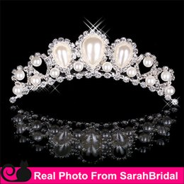 Wholesale Cheap Bling Rhinestone Pearls Crowns Jewelries Cheap Bridal Tiaras Wedding Party Bridesmaid Hair Accessories Headpieces Hair Band For Brides