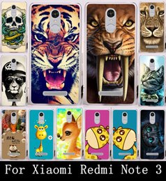 Wholesale Cute Animal Tiger Lion Painting Hard Plactic Cell Phone Cases For Xiaomi Redmi Note Case Cover Back Skin Fundas Protector Bag
