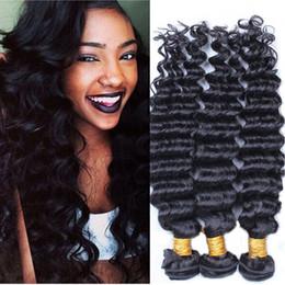 "7a Brazilian Hair Extension Deep Wave Curly 12""-30"" DHL Free Shipping 100% human hair weave double hair weft peruvian deep wave virgin hair"