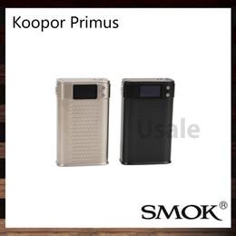 Wholesale SMOK Koopor Primus W TC Box Mod Large OLED Screen Zinc Alloy Construction Original VS Sigelei SX MINI Q CLASS W MOD