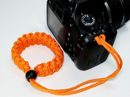 Outdoor life-saving rope adjustable woven camera wrist Strap & Hand Grips
