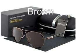 Driving Anti-Glare Polarized Sunglasses Mercury coated anti reflection Aluminum magnesium alloy frame outdoor fishing glasses Gift box E001