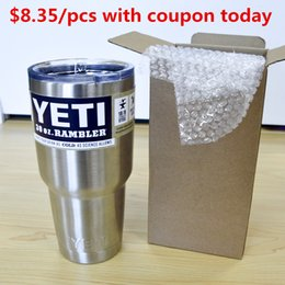Wholesale 2016 High Quality Yeti Vacuum Cup Oz Stainless Steel Beer Mug Big Capacity Ramble Tumble Vehicle Insulation Coffee Cup Dhl