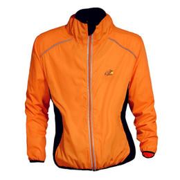 Promotion vélo vélo veste de manteau de pluie Nouveaux hommes hiver automne vélo manteau Windproof vélo de route vélo vêtements à manches longues veste vent imperméable veste, orange