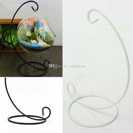 1pc Fer Bougie de mariage Bougeoir boule en verre Hanging lanterne stand E00015 SMAD à partir de supports métalliques pour le verre fournisseurs