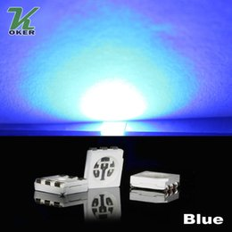 1500PCS 15-18LM Blue PLCC-6 5050 SMD 3-CHIPS LED Lamp Diodes Ultra Bright SMD 5050 SMD LED Free shipping