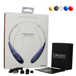 Wholesale HBS Wireless Bluetooth Headset Noise Cancelling Sport Headphone Up to Hours Music Playing Time for LG iPhone Samsung