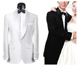Wholesale - 2016Very popular style White Notch Lapel Groom Tuxedos Groomsmen Men's Wedding Suits Best man Suits (Jacket+Pants+Vest+Tie)