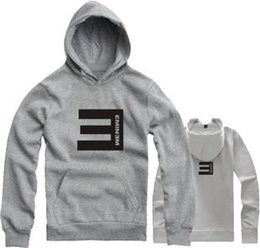 Wholesale-2016 New Brand Eminem Hoodies Men and Women Loose Hooded Thick Cotton Hooded Sports Hoody Printed Eminem Couples Sweatshirt Coat