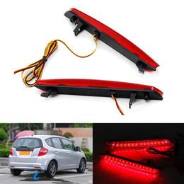 2pcs Waterproof Red Rear Bumper Reflector Lamp Car LED Parking Warning Tail Lights Stop Fog Lamp fit for for Honda STEPWGN RG