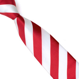 Newest Silk Men Ties White Red Striped Slim Skinny Tie Jacquard Woven Classic Men Tie Necktie Hight Quality Apparel Accessories E-042