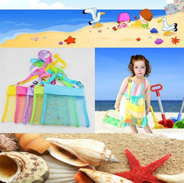 Promotion stockage pour les jouets Collection Baby Bag Plage de coquillages de récents Enfants sac de rangement poncer BEACH Treasures BAGs jouets 2304