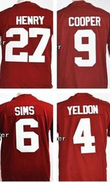 Wholesale 27 Derrick Henry Amari Cooper Blake Sims T J Yeldon Men s NCAA College Football Playoff Sugar Bowl Special Event Jersey
