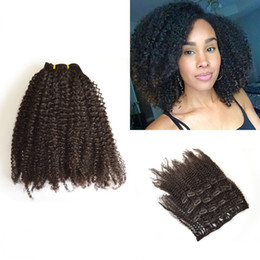 Malaysian Hair Weaves Clip In Natural Color Remy Human Hair Extension No Shedding Afro Kinky Curly LaurieJ Hair