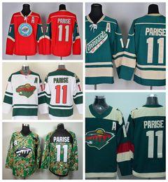 Wholesale 2016 Minnesota Wild Zach Parise Ice Hockey Jerseys Team Color Red Green White Camo Stadium Series Zach Parise Jersey Cheap