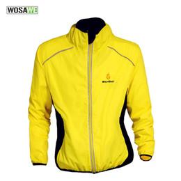 Promotion vélo vélo veste de manteau de pluie WOSAWE réfléchissant imperméable vélo vélo cycle vélo manches longues vent pluie vent Windcoat coupe-vent rapide séchage Jersey veste