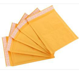 Kraft enveloppe jaune en Ligne-100 pcs / pack Emballage jaune enveloppe sac enveloppe sacs Emballage PE bulle sacs Kraft bulle Mailers Pad