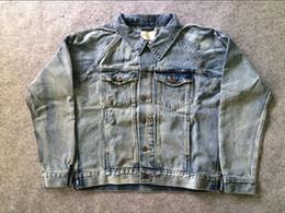 High quality Fear Of God Denim Jacket Fashion Hiphop Brand Clothing Men Justin Bieber Denim Jackets