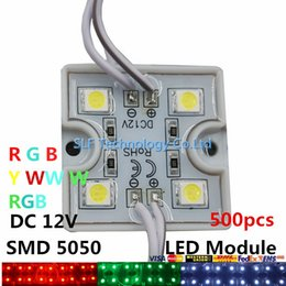 Wholesale 500pcs LED Led C Backlight Led Lights Modules RGB Pixel Tetragonal Iron Led Modules For Channel Letter Advertisement Light