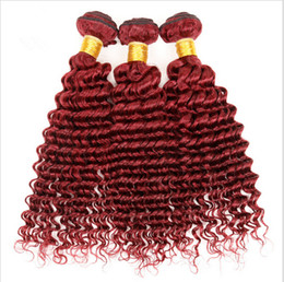 Malaysian Deep Curly Burgundy Human Hair 3Pcs Wine Red Virgin Malaysian Hair Weave Burgundy Red Deep Curly Human Hair Bundles 3Pcs Lot